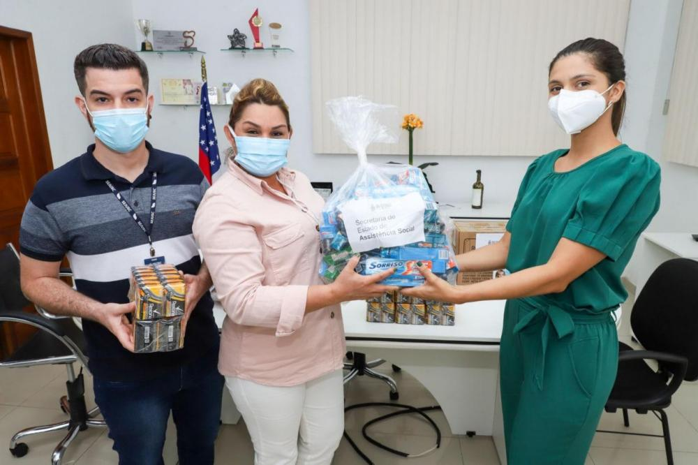 Seas doa 100 kits de higiene para abrigo emergencial da Sejusc.