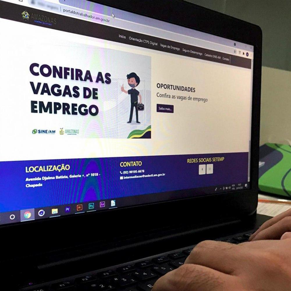 """Governo do Amazonas lança """"Portal do Trabalhador"""" nesta sexta-feira (30/04)"""