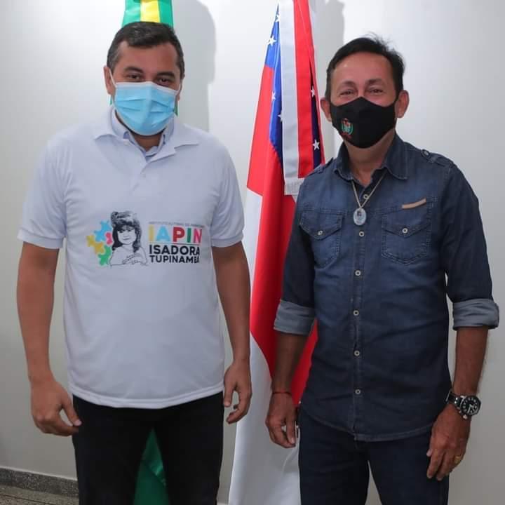 Governador Wilson Lima recebe vereador de Parintins, Babá Tupinambá