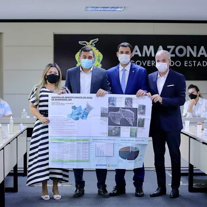 Wilson Lima assina Termo de Cooperação Técnica de R$ 1,8 milhão para ampliar rede de distribuição de água em Nhamundá