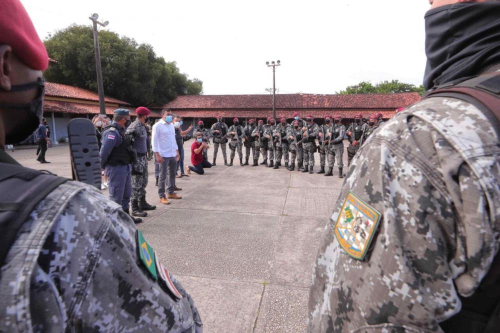 Governador Wilson Lima acompanha início da operação 'Mão de Ferro', executada pela Polícia Militar do Amazonas e Força Nacional