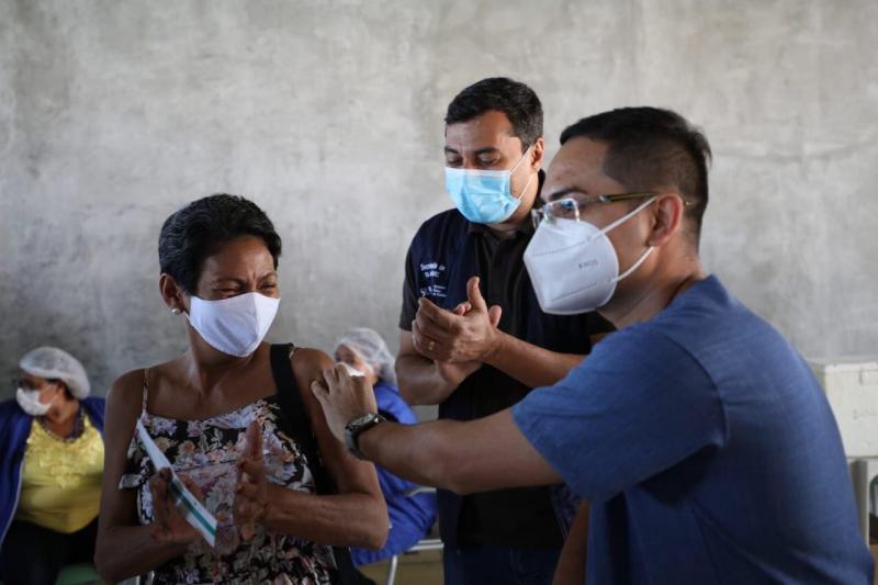 Em Manaus, mutirão encerra com mais de 135 mil vacinados contra a COVID-19 no final de semana