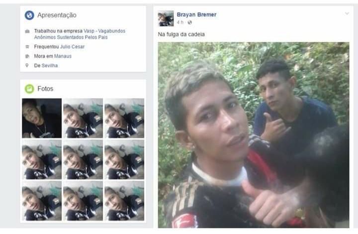 Ex-presidiário conhecido por postar fotos na internet após fugir da cadeia em 2017 é morto em Manaus