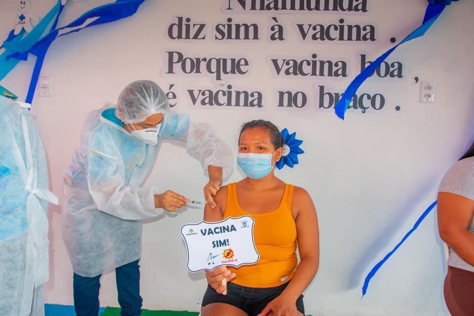 Em Nhamundá, é antecipada segunda dose da vacina Oxford/Astrazeneca
