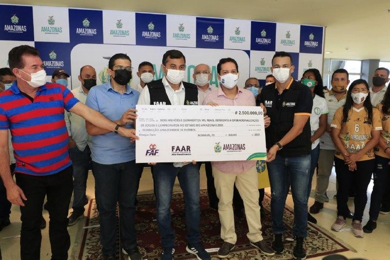 Governador Wilson Lima repassa patrocínio aos times de futebol profissional do Amazonas