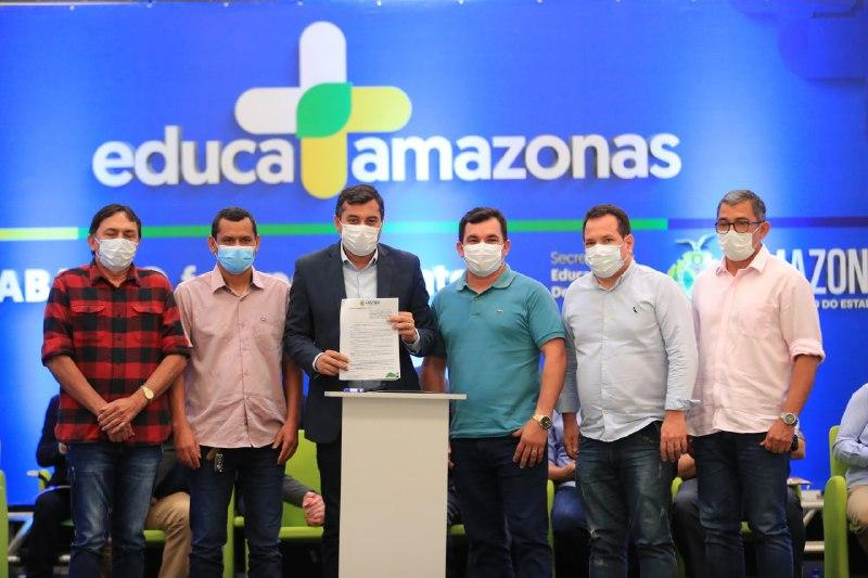 Wilson Lima lança 'Educa+Amazonas', com investimento de R$ 400 milhões em educação nos 62 municípios do estado