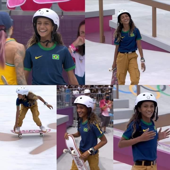 A fadinha do Brasil, Rayssa Leal, faz história e conquista prata no skate
