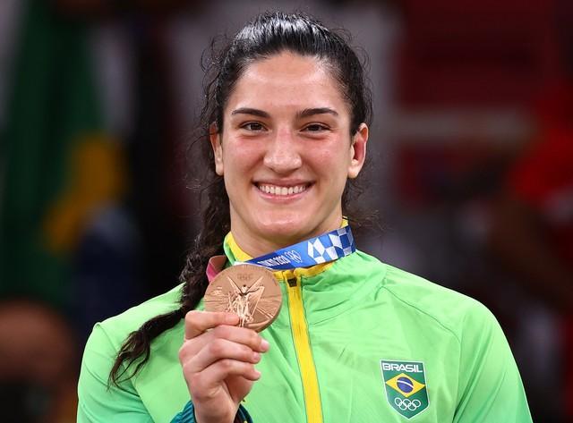 Mayra Aguiar faz história e é bronze nas Olimpíadas de Tóquio