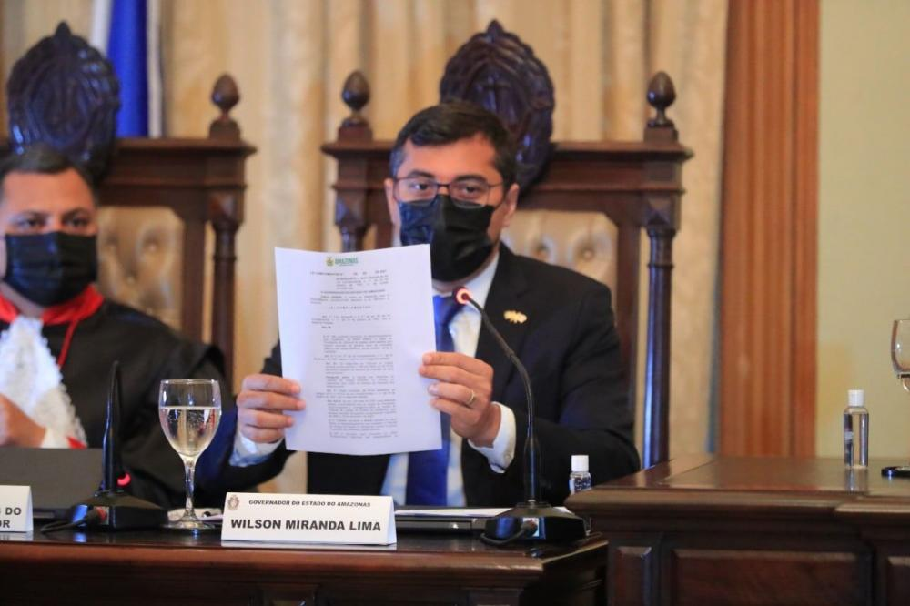 Governador Wilson Lima sanciona lei que muda data de posse da presidência do Judiciário do Amazonas