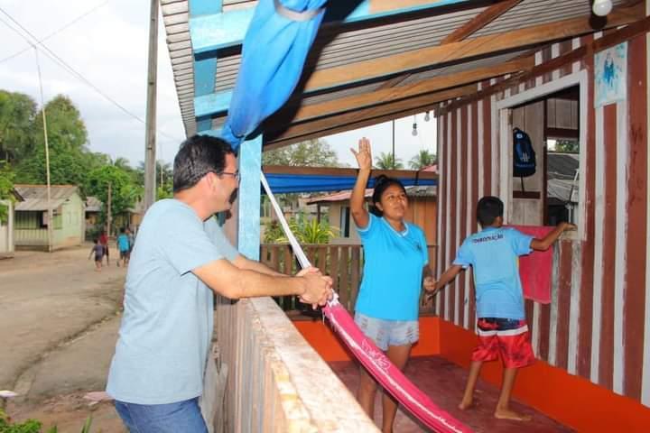 Presidente da Câmara de Parintins, vereador Mateus Assayag, visita as comunidades rurais Terra Preta e Simeão Socorro